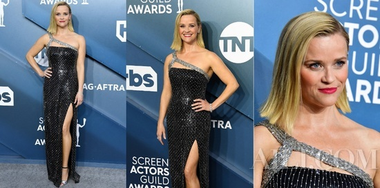 Reese Witherspoon身着CELINE BY HEDI SLIMANE出席美国演员工会奖